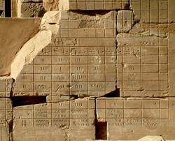 Keeping accounts - Karnak temple