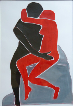 A 'cut out' after Matisse of Rodin's The Kiss - thus insulting two great artists in one hit.