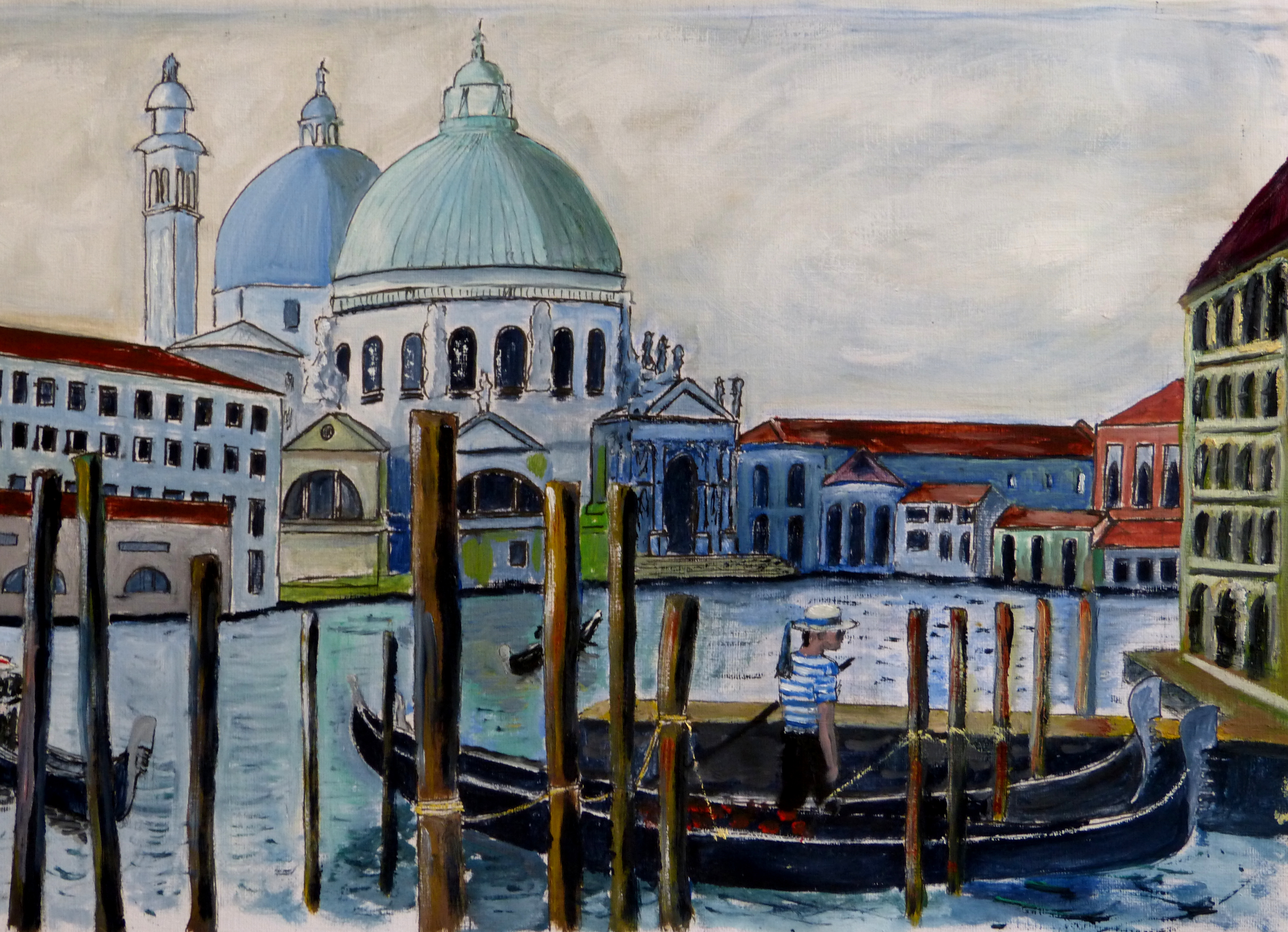 Approximate view of Venice showing the Santa Maria Della Salute