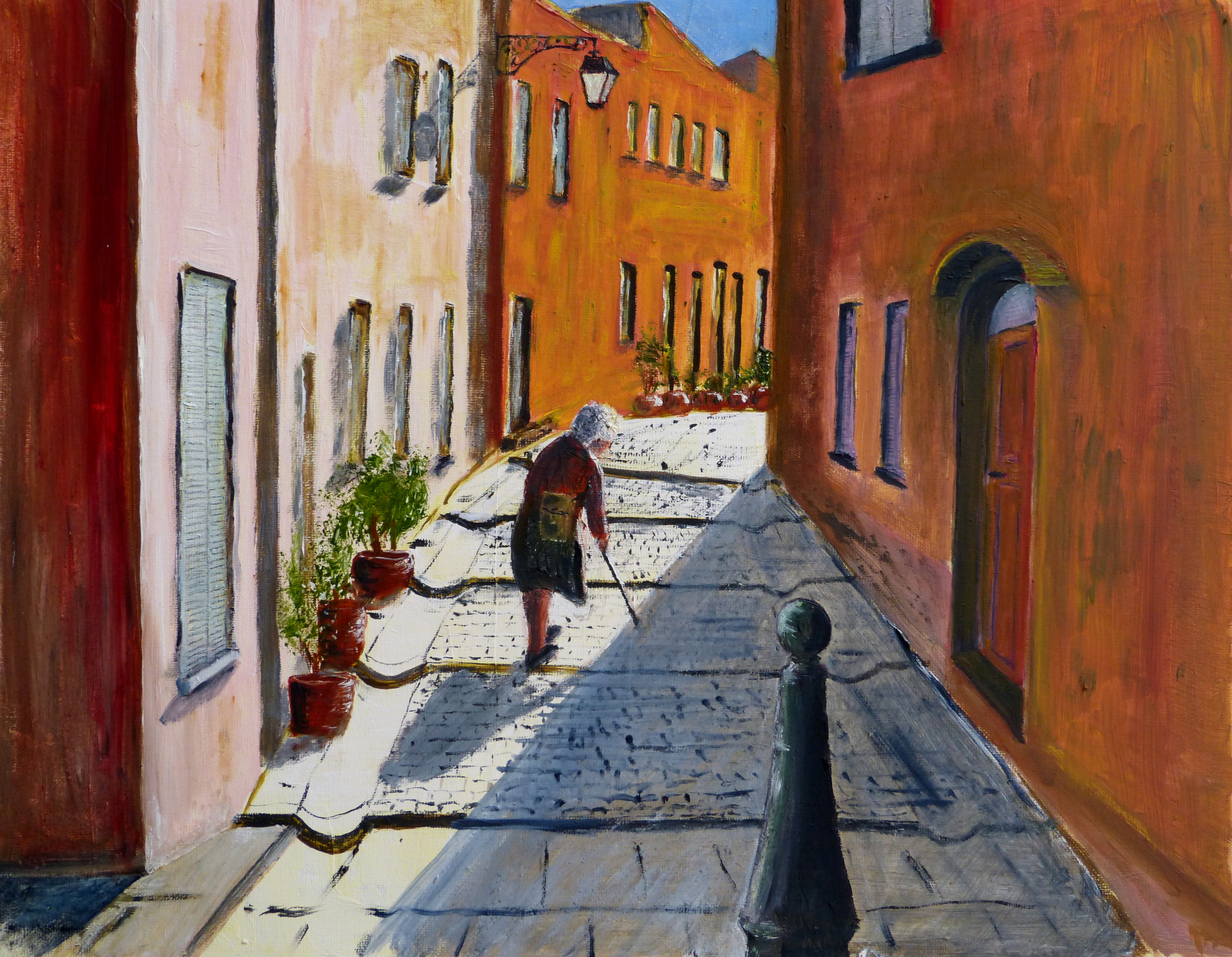 Street scene from Arles, Southern France