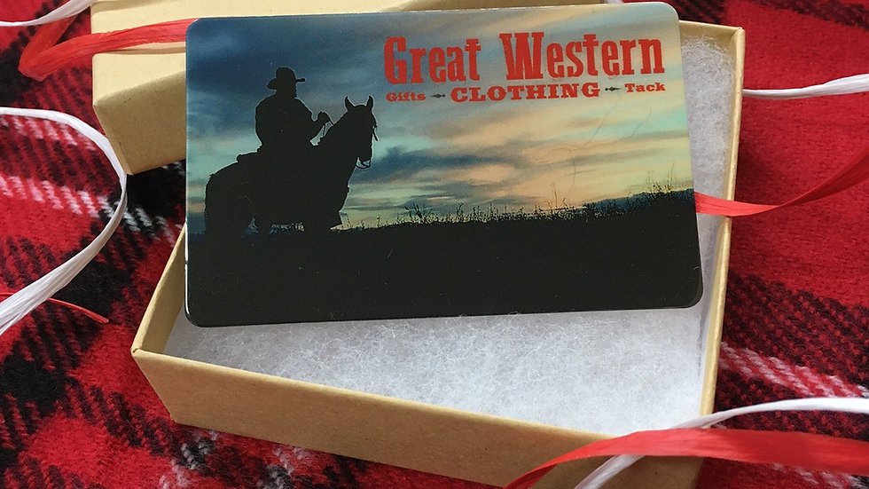 copy of copy of copy of Great Western Clothing Gift Card