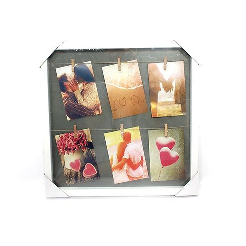 מסגרת עץ 6 תמונות