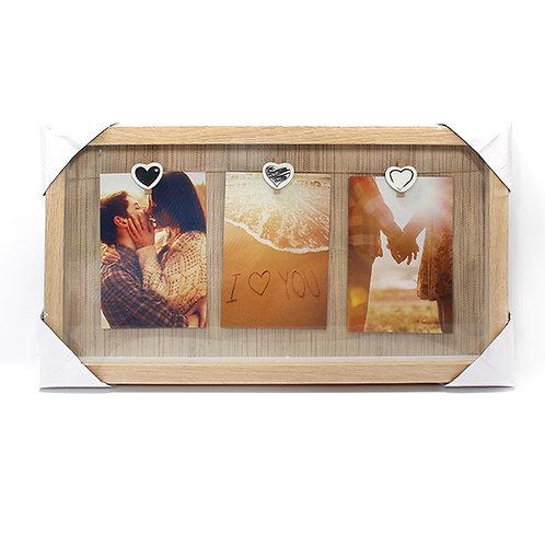 מסגרת עץ 3 תמונות