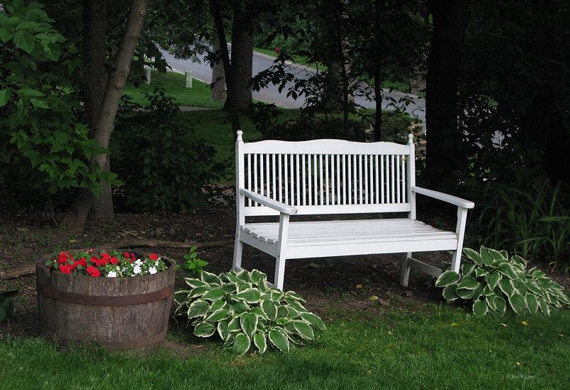 Sitting on White