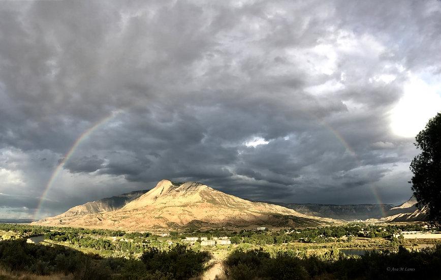 Rainbow At Battlement