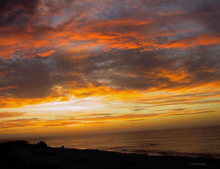 Orange Skies At Cabo