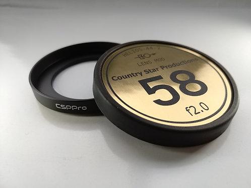 80mm Matte Box Cinema Ring and Custom Cap Combo