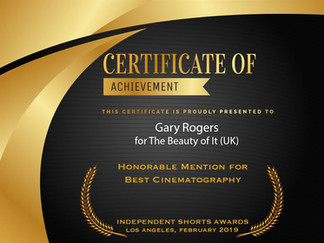Beauty of It wins Best Cinematography