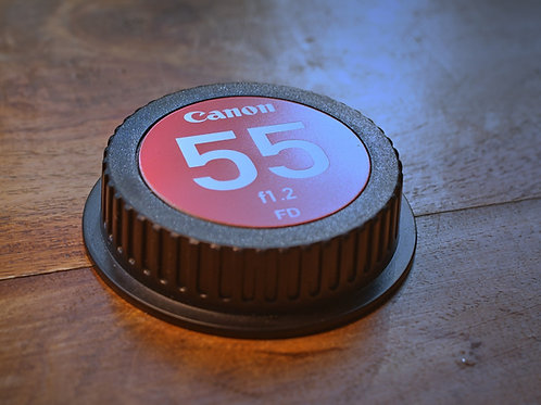 Plastic Rear Lens Cap with Engraved Insert