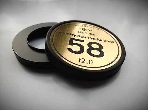 80mm Cine Ring and Custom Cap Combo