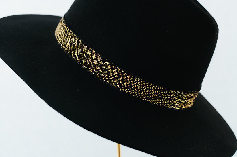 Black sparkle fedora