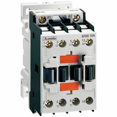 Lovato Electric 3-Pole Contactor, IEC 9A, AC Coil 60Hz, 120 VAC, 1NO Aux Contact