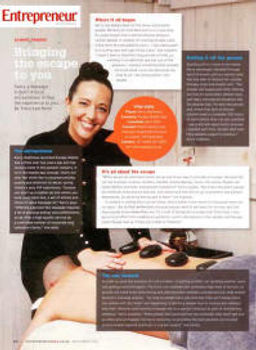 Entrepreneur Magazine featuring Kerry Matthews and Escape Mobile Spa Escape Mobile Spa Treatments, mobile massage, mobile waxing, mobile eyelash extensions, mobile spa pedicure, mobil spa manicure, mobile yoga classes, corporate wellness, corporate mobil spa treatments, mobile spa johannesburg, mobile spa pretoria, mobile spa gauteng