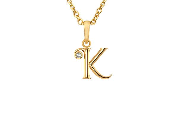 LETTER K Pendant