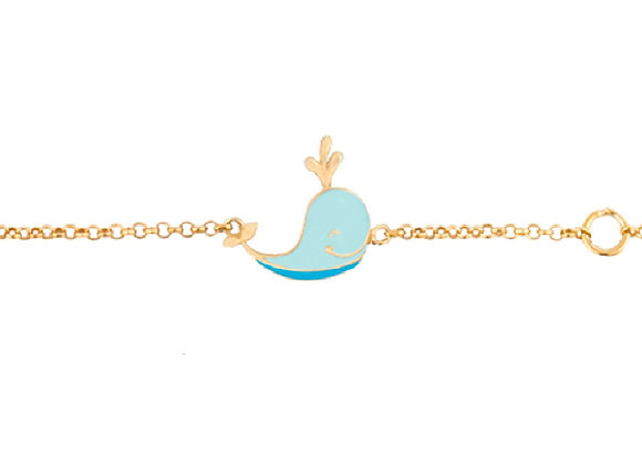 Ithan the Intelligent Whale Bracelet