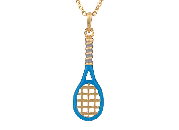 Ace the Tennis Racket Pendant