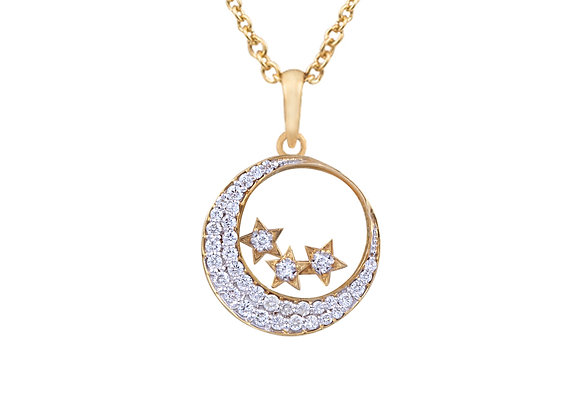 Valentina the Moon and Star Pendant