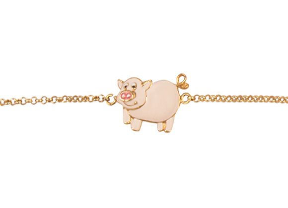 Frida the Friendly Pig Bracelet
