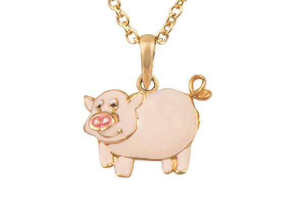 Frida the Friendly Pig Pendant