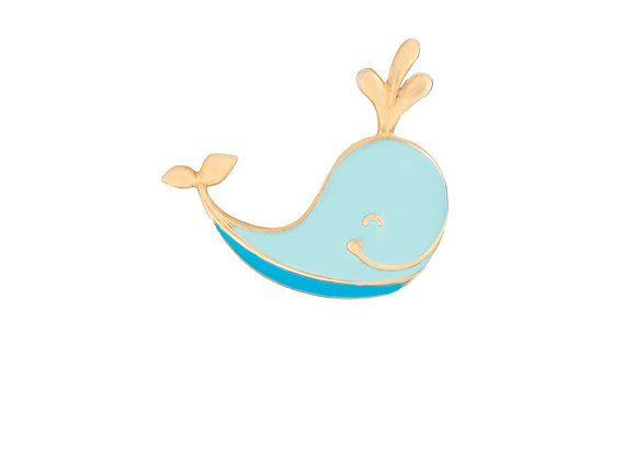 Ithan the Intelligent Whale Pin