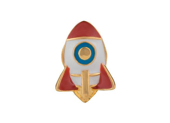 Elon the Courageous Rocket Pin