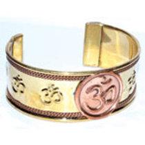 Om Copper Cuff Bracelet
