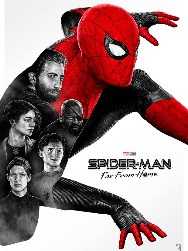 'SPIDERMAN FAR FROM HOME' ALTERNATIVE POSTER