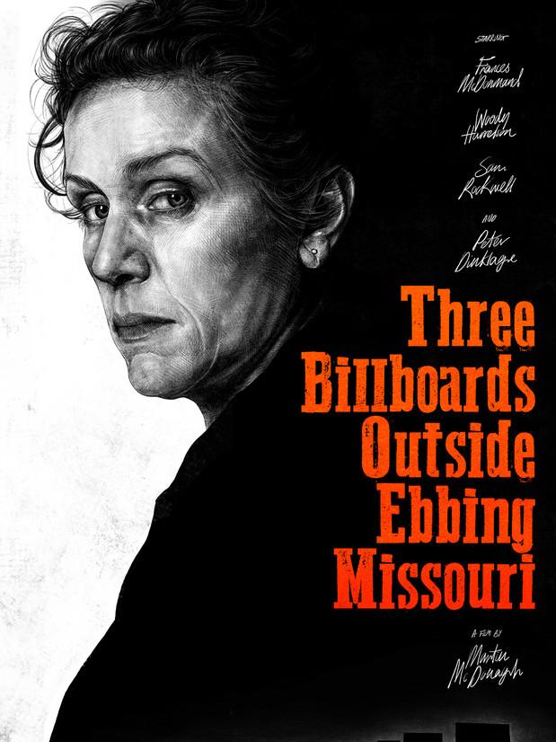 'THREE BILLBOARDS OUTSIDE EBBING MISSOURI' ALTERNATIVE POSTER