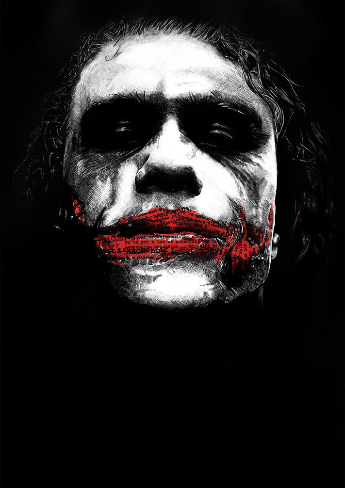 HEATH LEDGER AS 'THE JOKER'