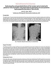 Lumbar Spine Spondylolisthesis - Gee
