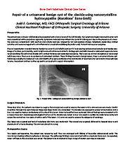 Repair of Unicameral Benign Cyst - Cummings