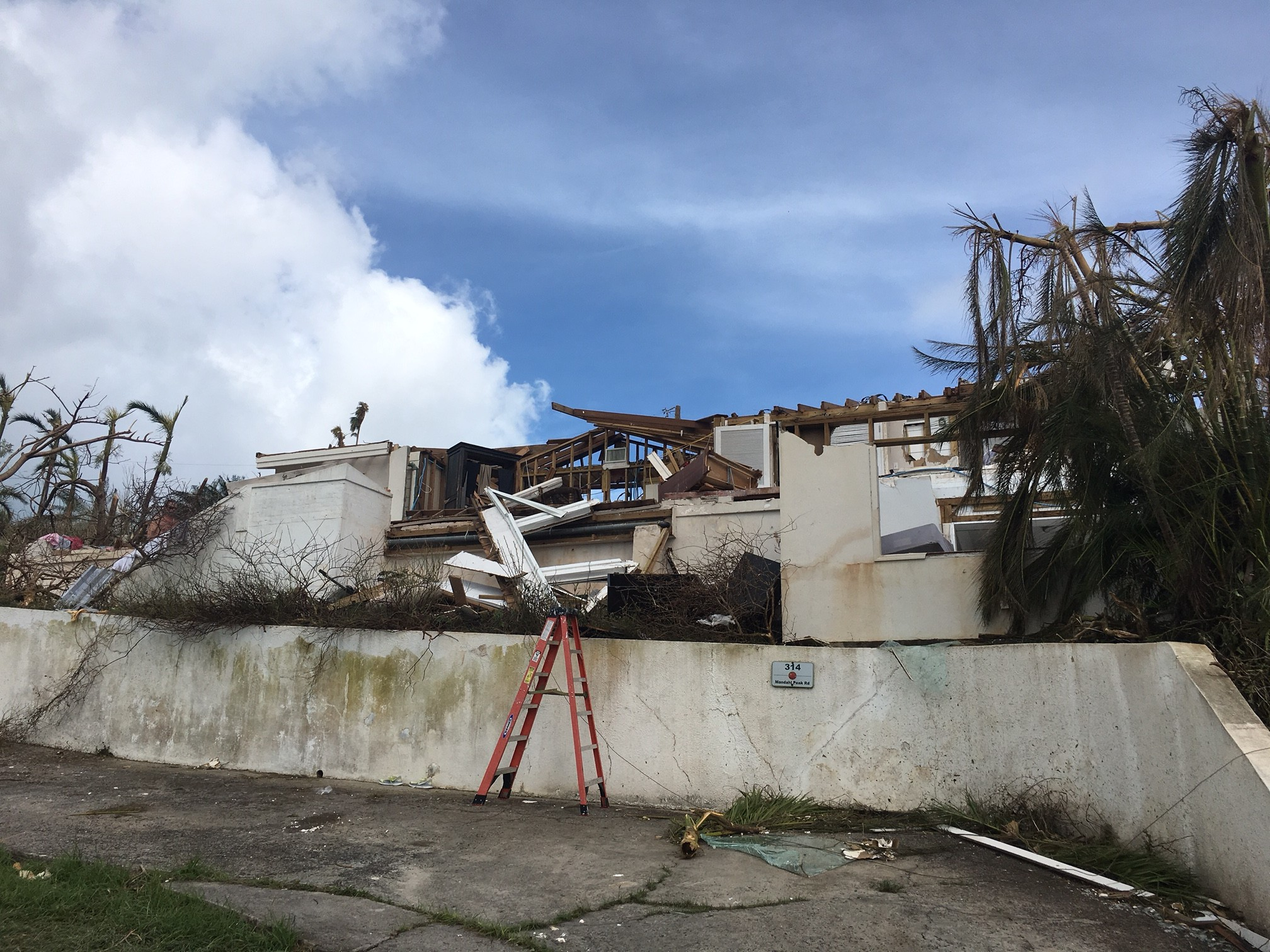 Hurricane Irma Damage house