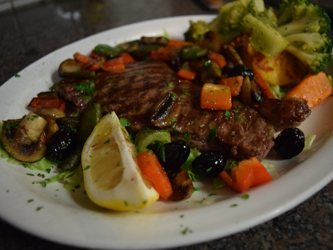 Veal Chop with Vegetables