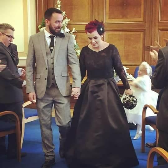 Custom 2 piece wedding dress