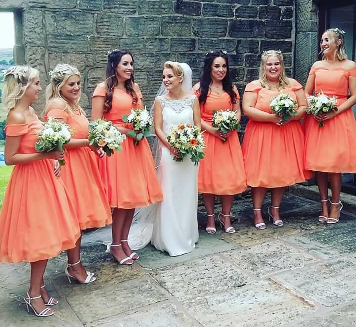 Bettie dress in Sherbert Orange
