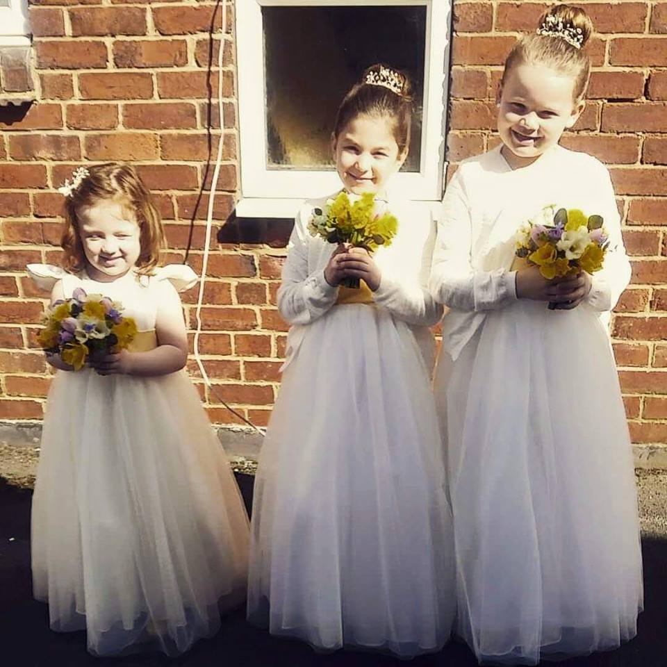 Bespoke flower girl dresses