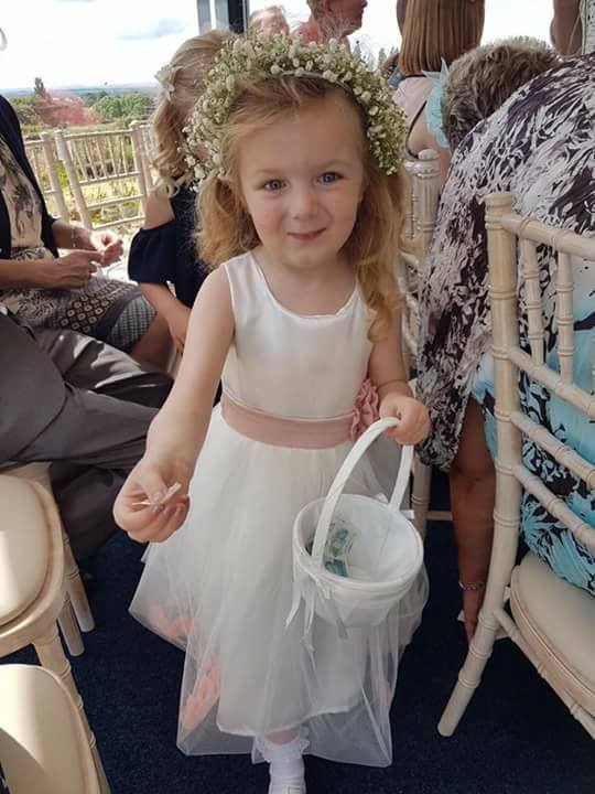 Ivory and Blush Petal dress