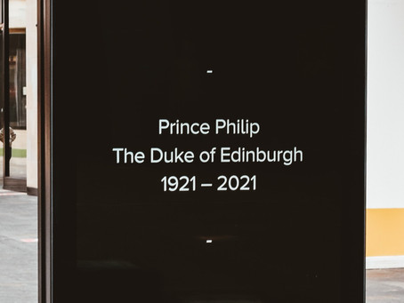 Condolence book and charity donations for HRH Prince Philip