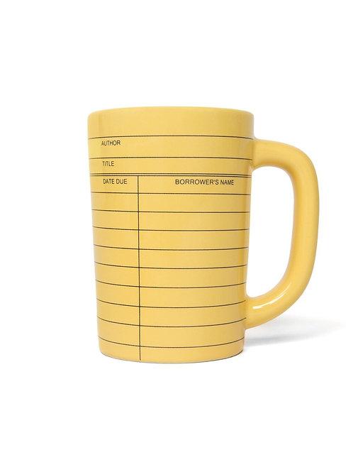 Library Card Yellow Mug