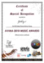 Galaxy7 Avima Music Award 2010 Electro/Dance Song Second Place