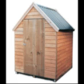 Kaimai Chalet roof wooden garden shed