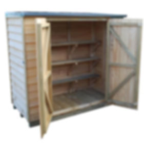 Mana Lean-To Timber Courtyard Cupboard