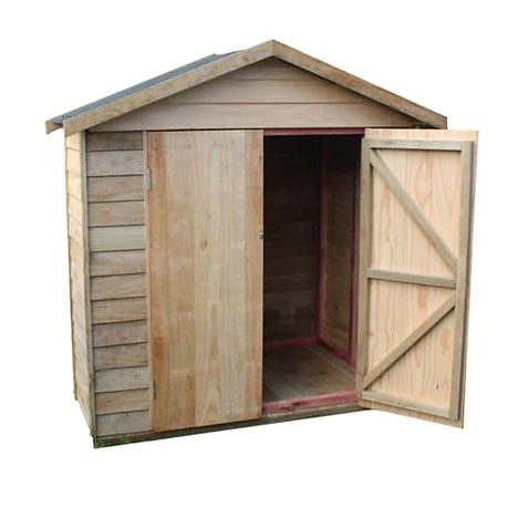 Pakatoa Gable Roof Timber Courtyard Cupb