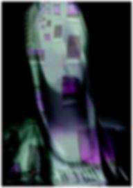 Visage androïde, superposition photo