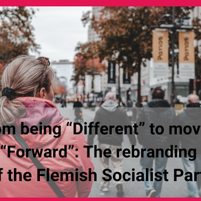"""From being """"Different"""" to moving """"Forward"""": The rebranding of the Flemish Socialist Party"""