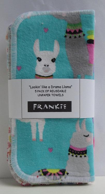 Reuseable Unpaper Towels (5 pack) Lookin' like a Drama Llama