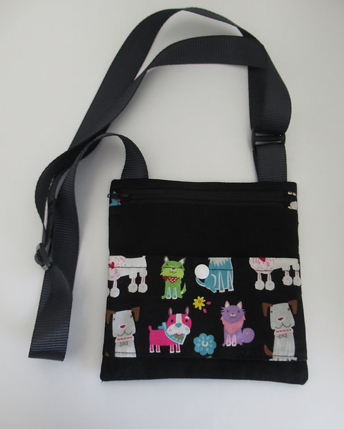 Doggy Treat Bag (with adjustable strap) Multicoloured Doggies