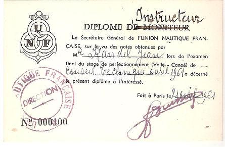(104) Diplome d'Instrtucteur UNF JCK 196
