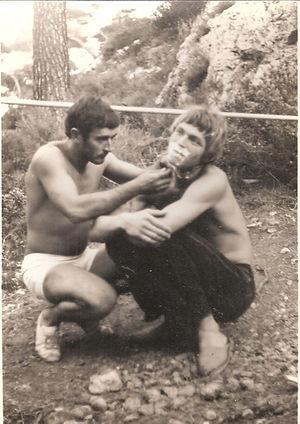 Sormiou 1968, JP Char et Robert Lankeste