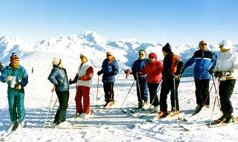 La Plagne, janvier 1987 (voir les noms s
